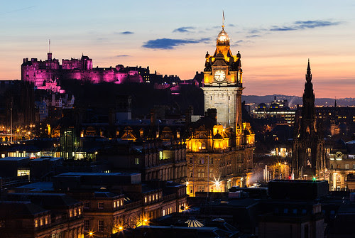 Edinburgh Dusk by blue fin art- 1 Million Views Thank You