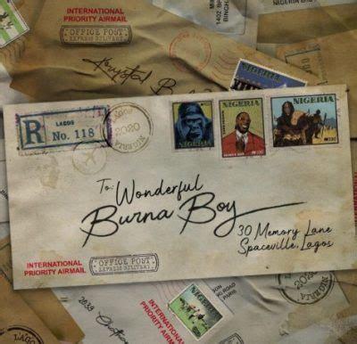 burna boy wonderful mp  lyrics