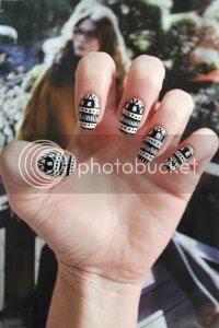 aztec nail art, tutorial, easy nails, nail art blog