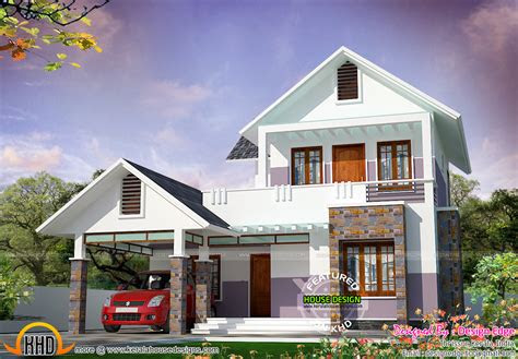 simple modern house   sq ft kerala home design