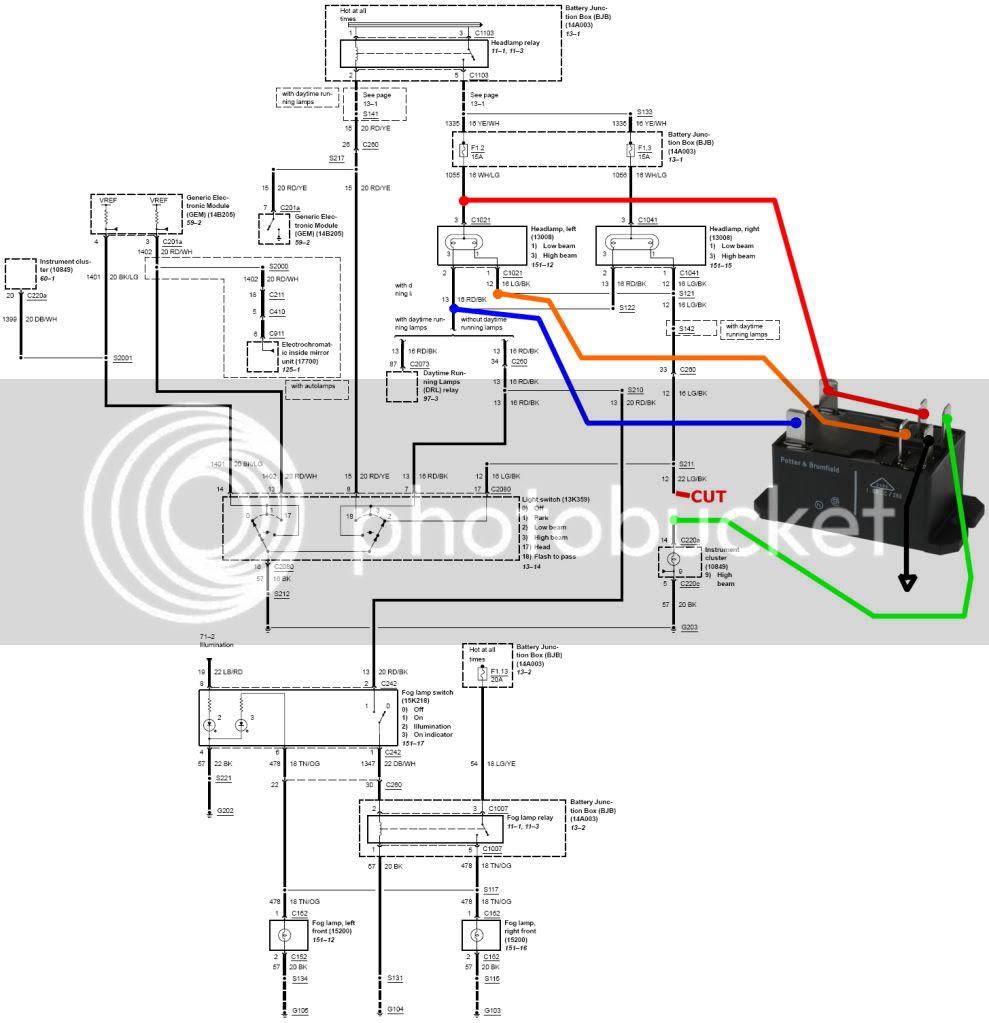 ford fusion headlight wiring diagram