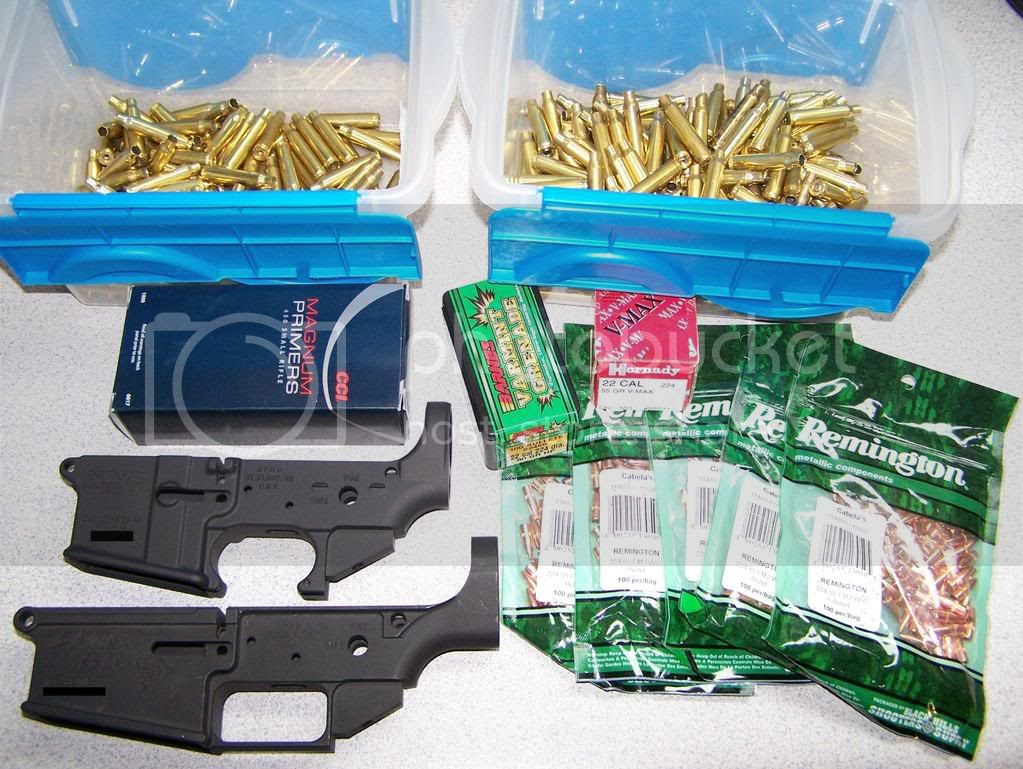 Lowers, brass, and bullets