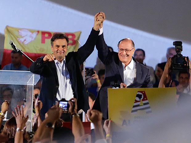 Aécio Neves apoia Geraldo Alckmin, candidato a reeleição ao governo do estado em SP (Foto: Gabriela Biló/Futura Press/Estadão Conteúdo )