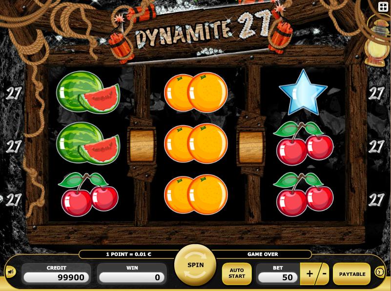 Dynamite 27 slot machine online kajot promo online game