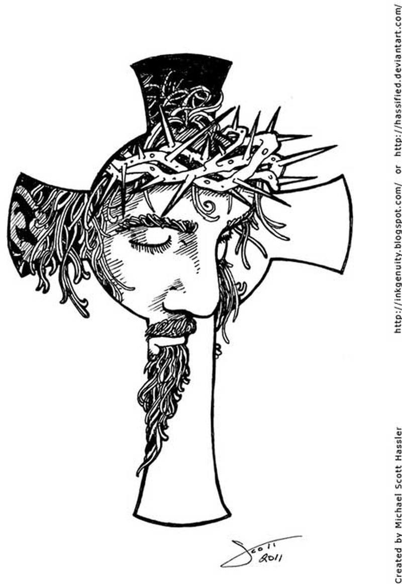 Cross Jesus Tattoo Sample Tattoos Book 65000 Tattoos Designs