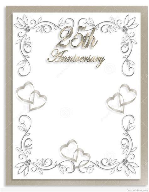 Free 25th wedding anniversary invitations : free templates