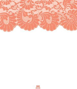 Or Peach Lace Plain Invitation, then add sleeve/burlap