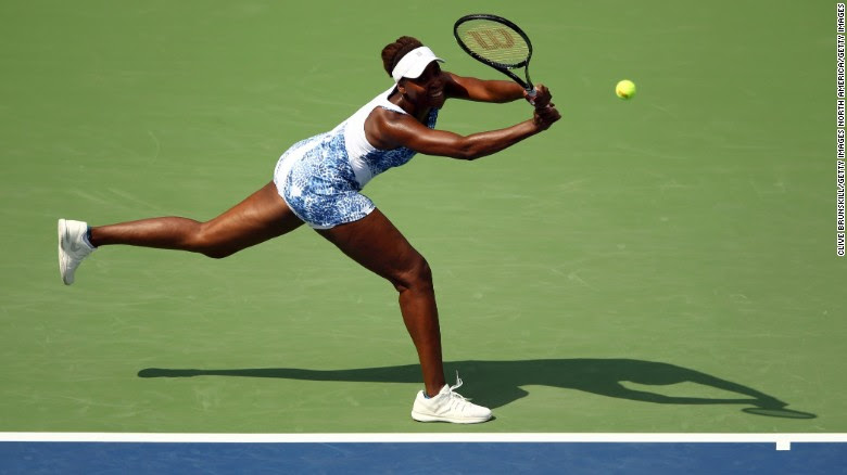 Venus Williams was embroiled in a slugfest, blowing match points in a second set before seeing off Monica Puig in three.
