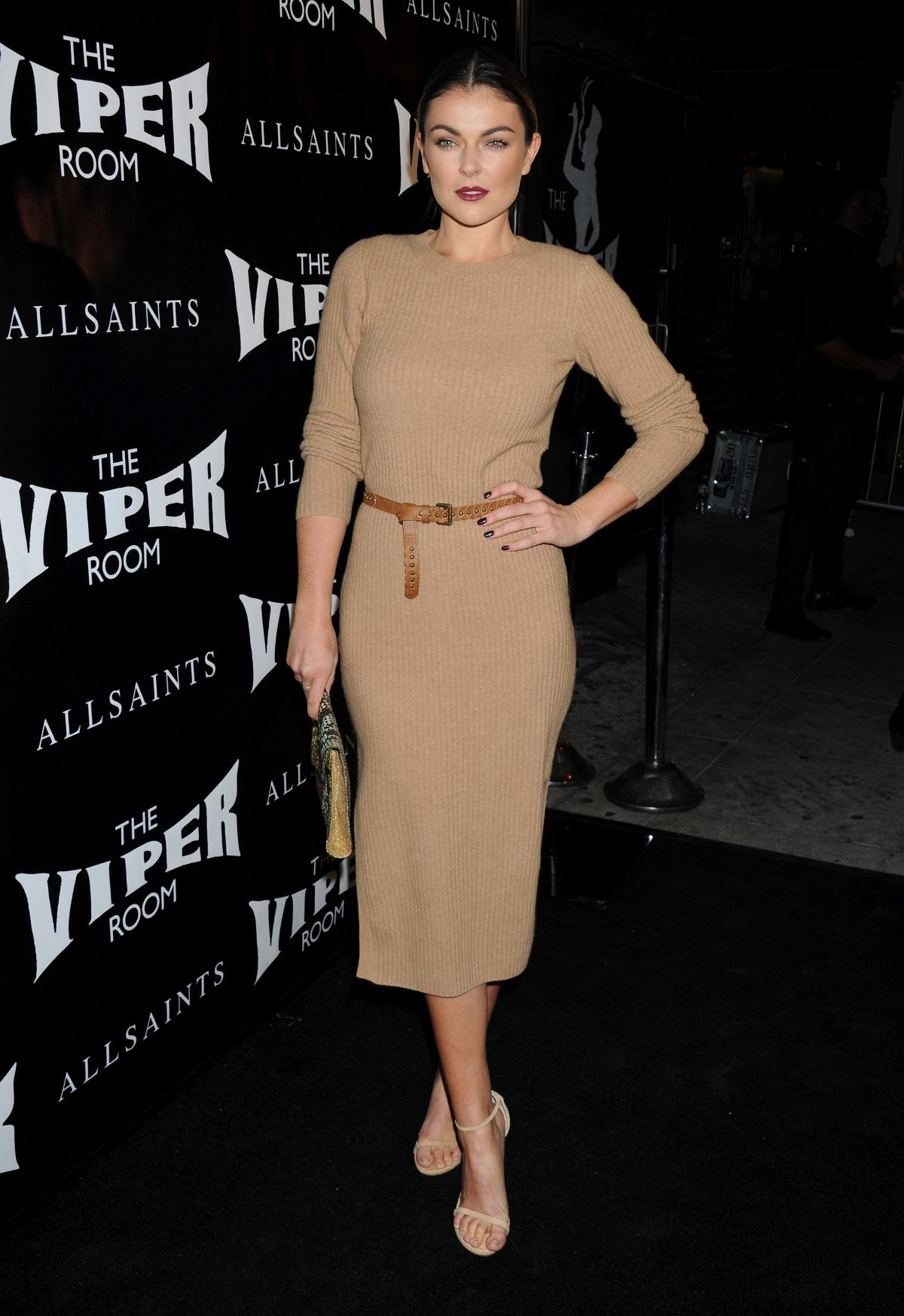 SERINDA SWAN at Official Viper Room Re-launch Party in West Hollywood 11/17/2015