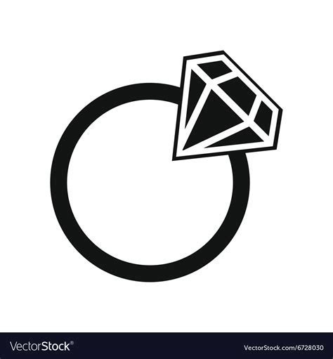 Simple wedding ring Royalty Free Vector Image   VectorStock