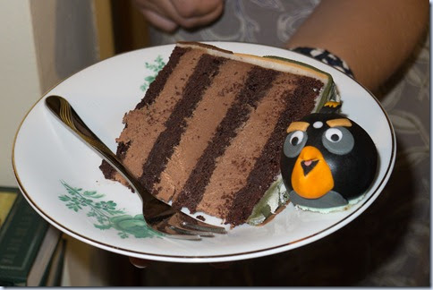 kos torte in bomba ptič