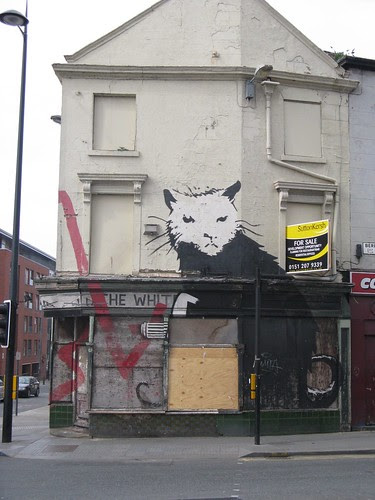 Banksy Cat Liverpool Street Art