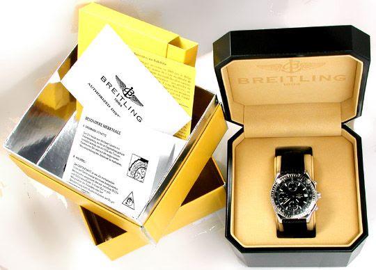 Foto 4, Orig.Hr-Breitling-Chronomat Topuhr Neuzustand Portofrei, U1831