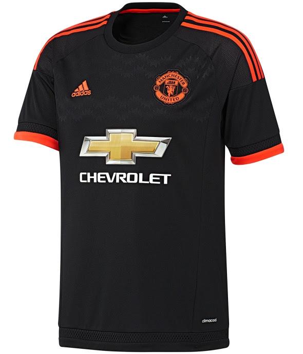 Black Man Utd Third Shirt 2015/16- New Man U Third Kit 15-16 | Football Kit News| New Soccer Jerseys