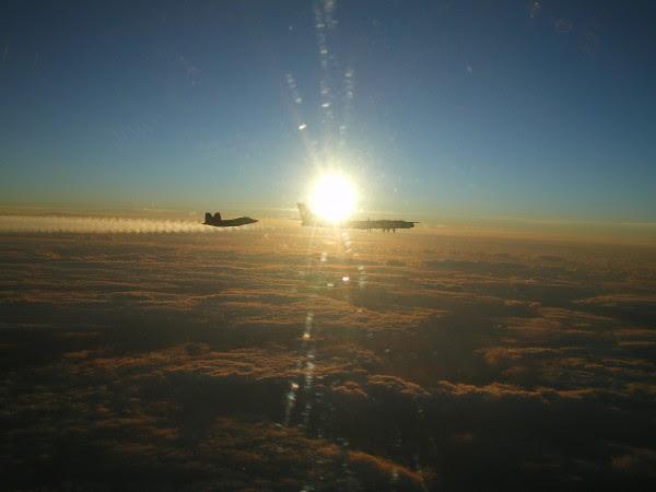 Dos F-22 aviones de combate interceptaron un Tu-95 cerca de Alaska en agosto de 2010 siendo la primera misión real de la Raptor