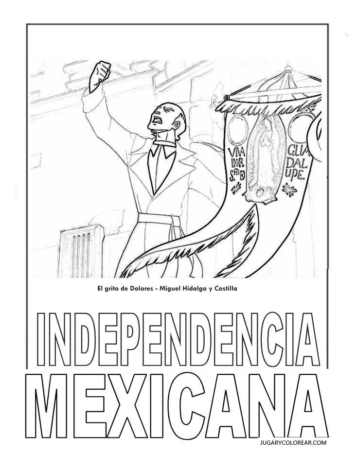 Mexico Para Colorear Dibujo De Mxico Para Colorear