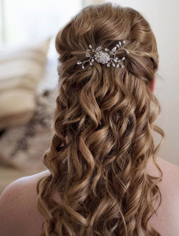 30 Romantic Long Bridal Wedding Hairstyles to Try - Wohh Wedding