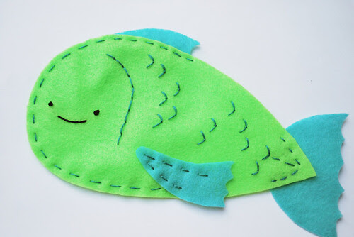 make a fish puppet!