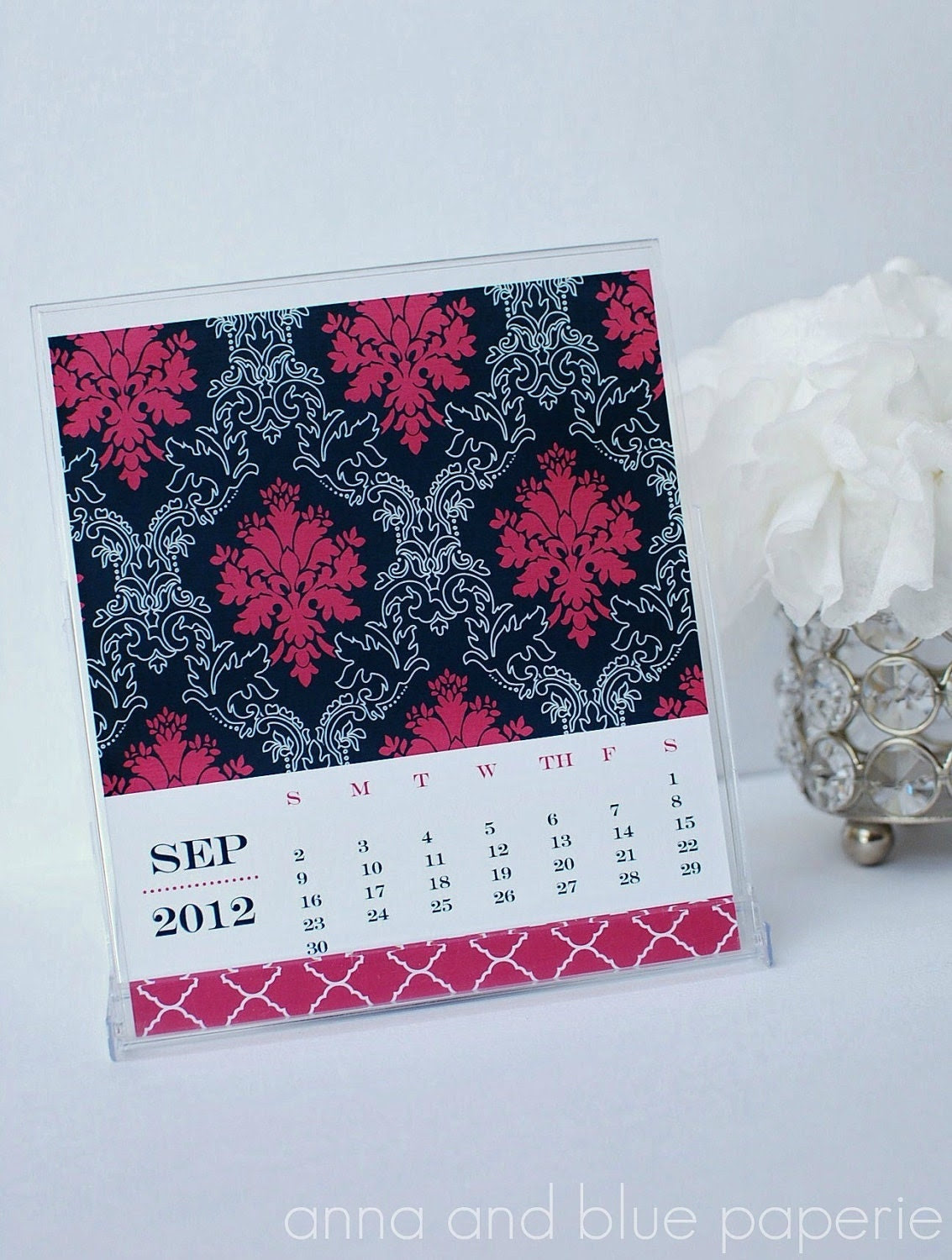 2012 Desk Calendar Turns into Note Cards  - Printable Desk Calendar - anna and blue paperie