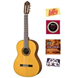 Yamaha CG162S Spruce Top Classical Guitar Bundle with Instructional DVD, Strings, Pick Card, and Polishing Cloth...