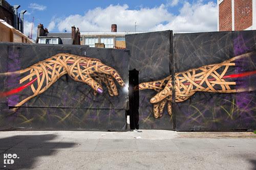 Large street art work by London based artist Otto Schade