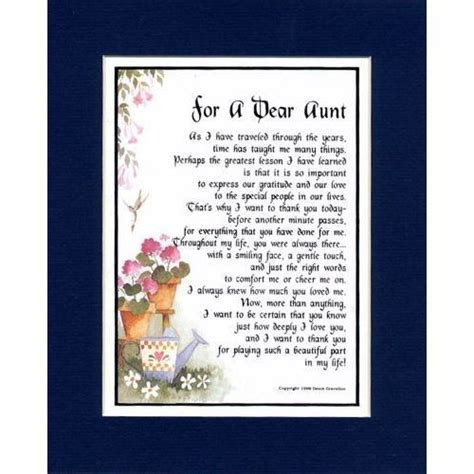 poems for aunts from nieces   poems about aunts from