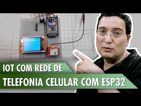 IOT com rede de telefonia celular e ESP32