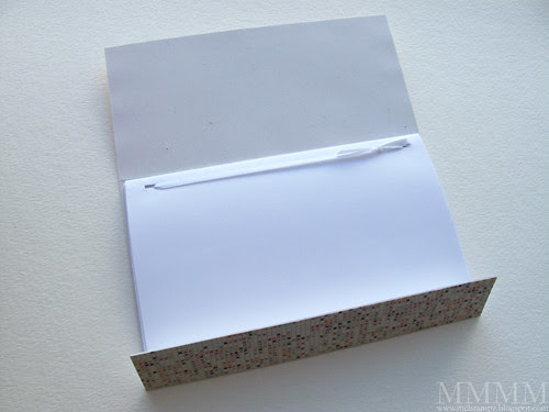 5B) Cut pages 6 and 1-2 x 8 inches - fold in half - punch holes in pages and cover - Tie into cover