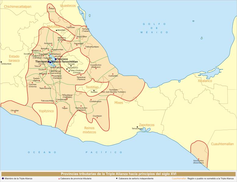 Archivo:Provincias tributarias de la Triple Alianza (s. XVI).svg