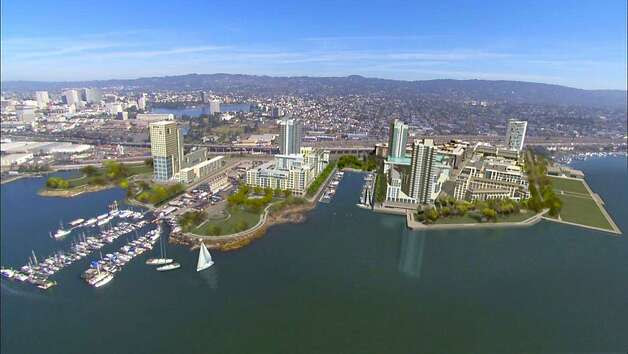 A rendering of a redevelopment project, called Brooklyn Basin, of 65 acres of property on the Oakland Estuary. Photo: -, Oakland Harbor Partners
