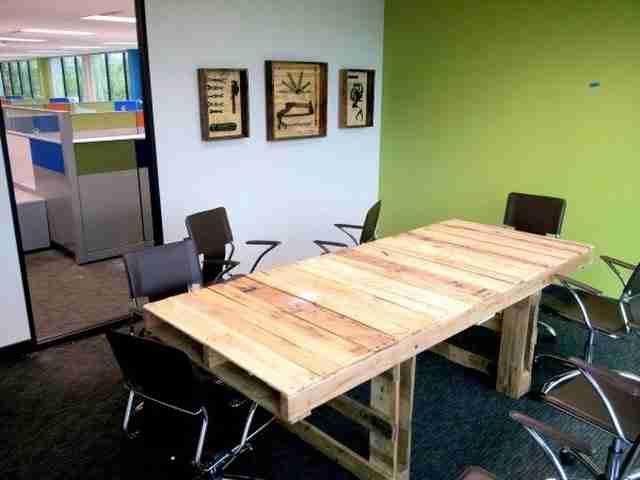 25 γραφεία και τραπέζια από ξύλινες παλέτες