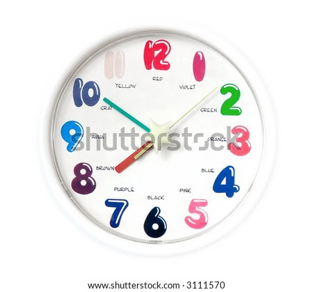Simple Analogue Clock Easy Editable Without Stock Photo 3111561 ...