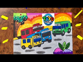 Mewarnai Tayo The Little Bus Pakai Crayon Grasp So Fun The
