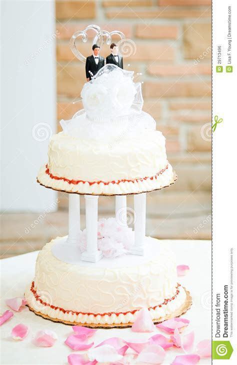 Wedding Cake For Gay Couple Stock Photo   Image of formal