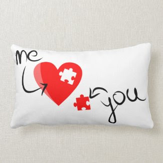 Heart Puzzle Pillow