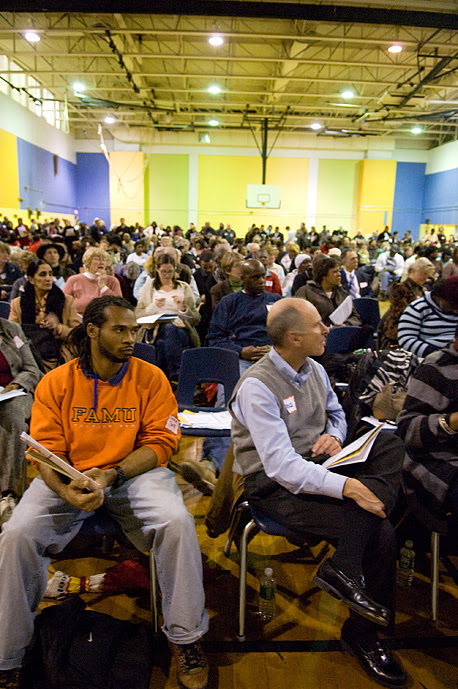 Over 500 Philadelphians gathered at Mastery Charter School in Germantown to