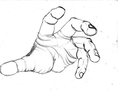 open hand drawing clipart
