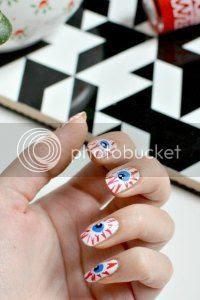 halloween nail art, tutorial, fright night