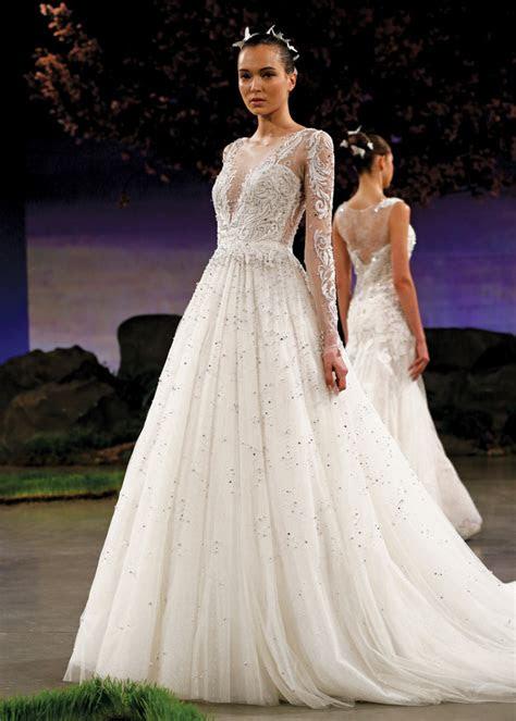 ines  santo princess long sleeve ballgown wedding dress