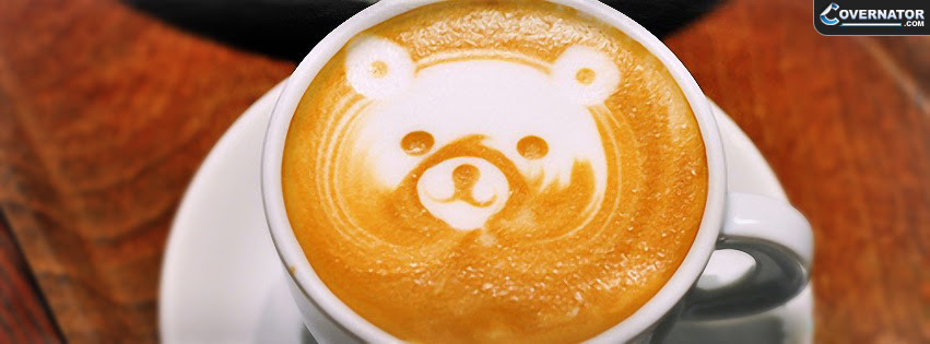 Teddy Bear Coffe Facebook Cover Photo