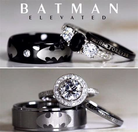 17 Best ideas about Batman Wedding Rings on Pinterest