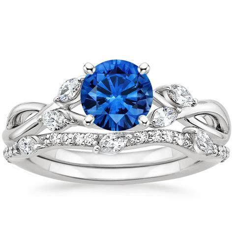 Sapphire Willow Diamond Ring with Luxe Willow Diamond