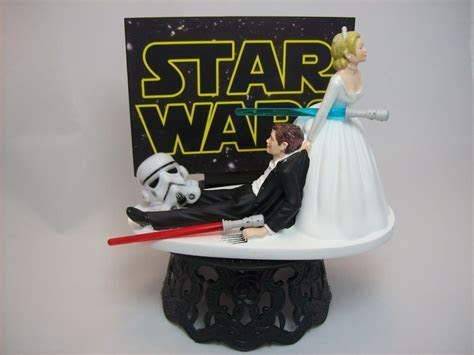 STAR WARS Stormtrooper Bride & Groom Funny Wedding Cake