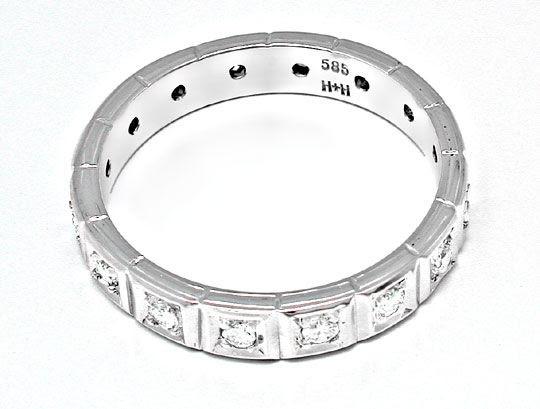 Foto 3, Brillant-Vollmemory-Ring Lupenrein Weissgold Luxus! Neu, S8632