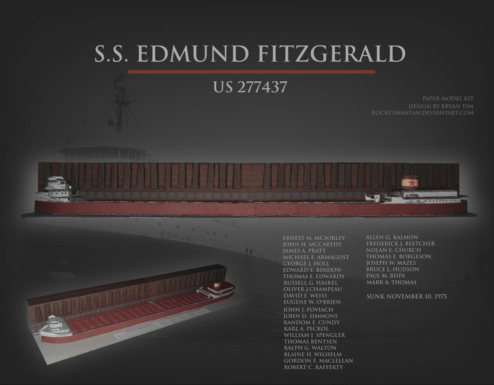 SS Edmund Fitzgerald Papercraft