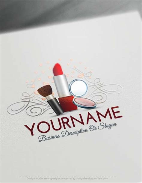 lipstick logo creator makeup artist logo design