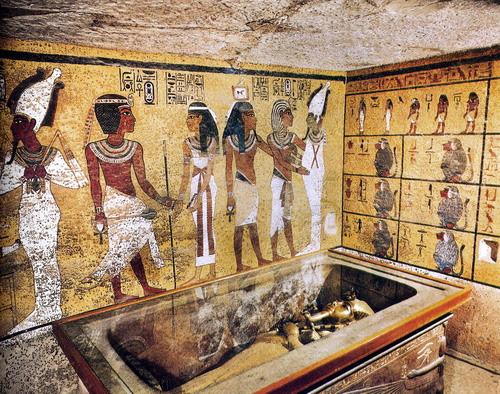 Mural Tumba Egipcia Tutankamon