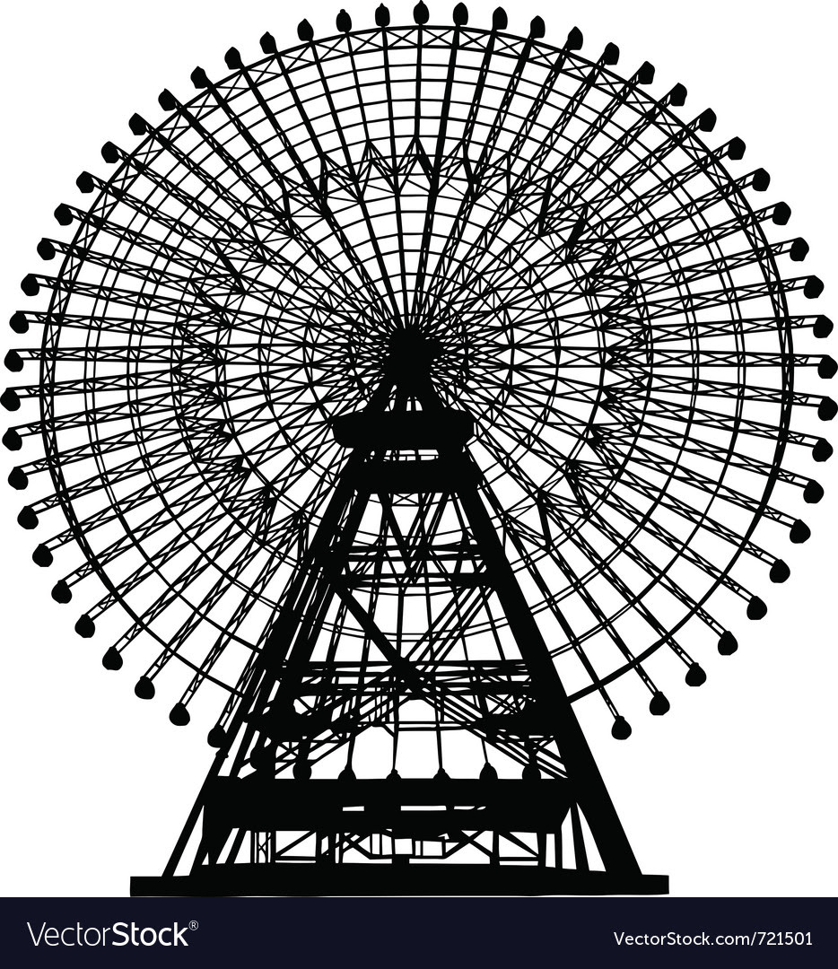 Ferris Wheel Silhouette Royalty Free Vector Image