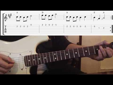 Country Blues Melodie für Gitarre | Einfach geiler Gitarre spielen!
