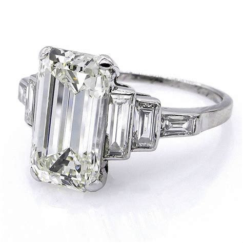Antique 1920s Art Deco Diamond Engagement Ring   Deco Shop